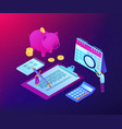 budget planning isometric 3d concept vector image vector image