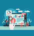 business analysts flat style design vector image