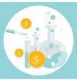 business concept alchemy experiment vector image