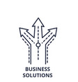 business solutions line icon concept business vector image vector image