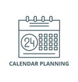 calendar planning system line icon vector image