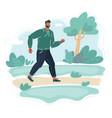 cartoon man walking in the vector image