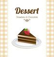 chocolate design vector image