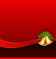 christmas bells on red background design vector image