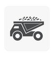 coal truck icon vector image