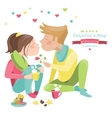 Couple in love celebrating Valentines Day vector image