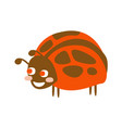 cute cartoon ladybug colorful character vector image vector image