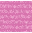 Cute smiling snails pink stripes seamless pattern vector image vector image