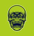 detailled skull head vector image vector image