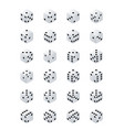 dice isometric variants white game cubes isolated vector image vector image