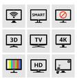 display icons set vector image vector image