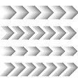 dotted arrow strip black symbols vector image vector image