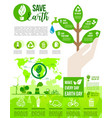 earth day and go green poster for ecology design vector image vector image