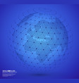 earth globe with wireframe sphare vector image vector image
