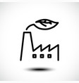 eco factory line icon industrial factory vector image