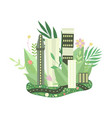 eco friendly green city and urban landscape vector image vector image