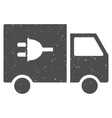 Electric Truck Icon Rubber Stamp vector image vector image