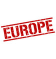 europe red square stamp vector image vector image