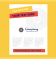 eye ball title page design for company profile vector image vector image