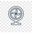 fan concept linear icon isolated on transparent vector image