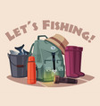 fishing equipment vector image vector image