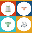 flat icon garment set of singlet lingerie foot vector image vector image