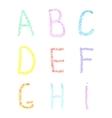 font pencil crayon abc chalk letters handwritten vector image vector image