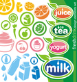fresh drink design elements vector image vector image