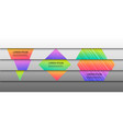 geometric horizontal concept vector image