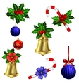 Green Christmas garlands of holly vector image vector image