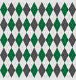 green gray geometric diamonds seamless pattern vector image vector image
