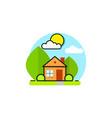 green house logo emblem on white background vector image vector image