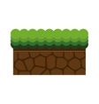 ground mud block with grass vector image