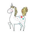 hand drawn cute magic unicorn vector image