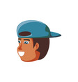 head of man black with cap avatar character vector image vector image