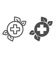 herbal medicine line and glyph icon natural vector image