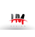 hy h y brush logo letters with red and black vector image vector image