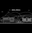 kerala silhouette skyline india - kerala vector image vector image