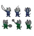 kitten ninjas vector image