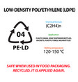 low density polyethylene plastic marking vector image vector image