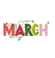 March month name vector image