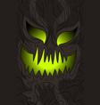 mask halloween vector image vector image