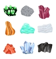 Mineral stone set vector image