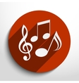 music notes icon vector image