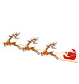 new year christmas drawing of deer and sleigh of vector image