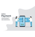 online payment phone card money transaction vector image vector image