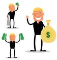 Profit Businessman vector image