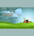 rain is coming vector image vector image