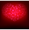 Red background with hearts collection vector image vector image