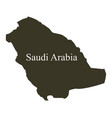 saudi arabia map on white background vector image vector image